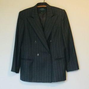 LAUREN Ralph Lauren Petite Wool Pinstripe Blazer 8